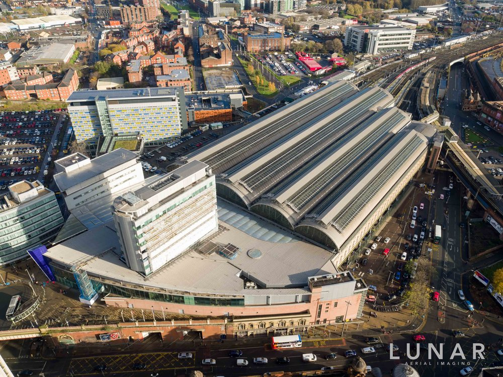 Drone photo Manchester Piccadilly