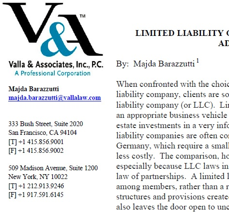 Limited Liability Companies LLCs Risks And Advantages