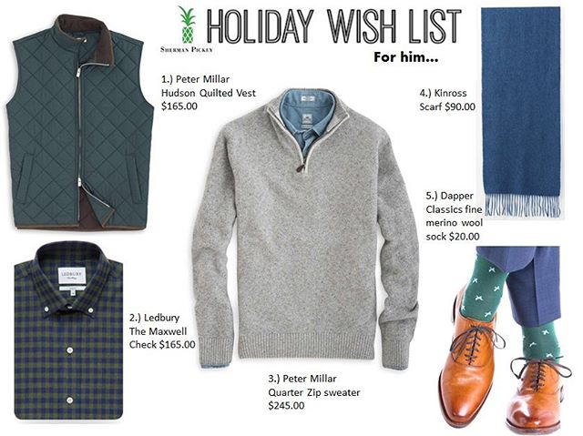 Who is the special man on your holiday list? 🎁🎁🎁Check out Sherman Pickey's top five holiday picks for him! 👔👞👖 #holiday #holidayshopping #ootd #gift #giftideas #gifting #mensfashion #style #shermanpickey