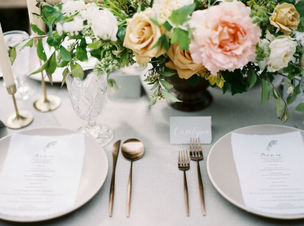 wedding tablescape for spring