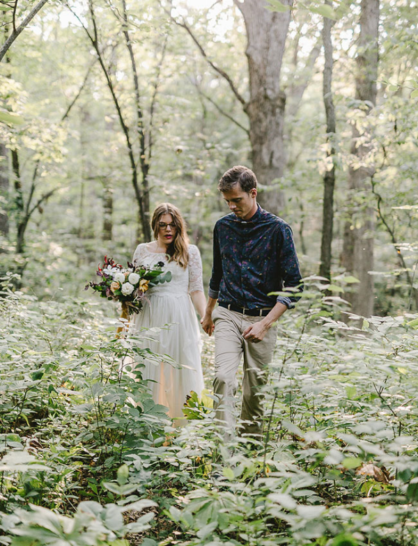 Outdoor Elopement Wedding Flowers by Foraged Floral in Portland, Oregon