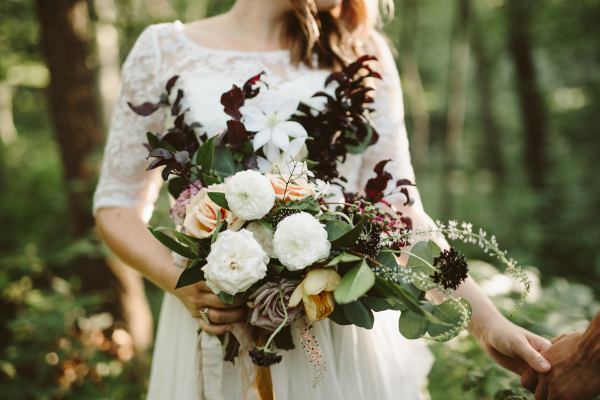 Fall bouquet by Foraged Floral, Portland OR, for adventure elopement