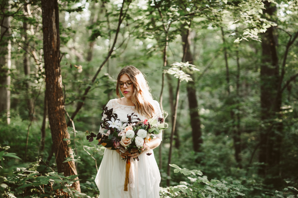 Starved Rock Elopement wedding bouquet by Foraged Floral in Portland OR
