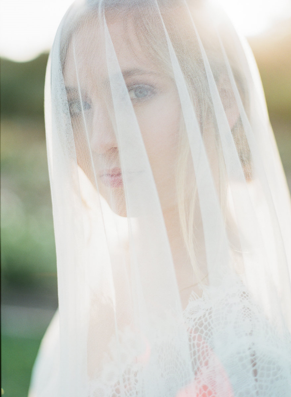 Bridal Portrait with veil over the face