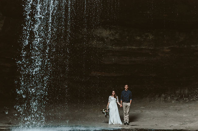 starved rock waterfall elopement.jpg