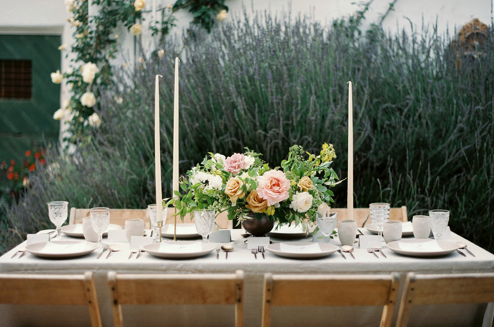 garden rose wedding centerpiece in pastel.jpg