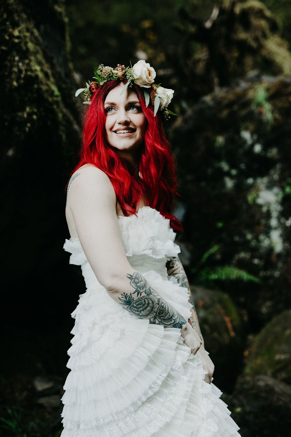 floral crown vintage wedding.jpg