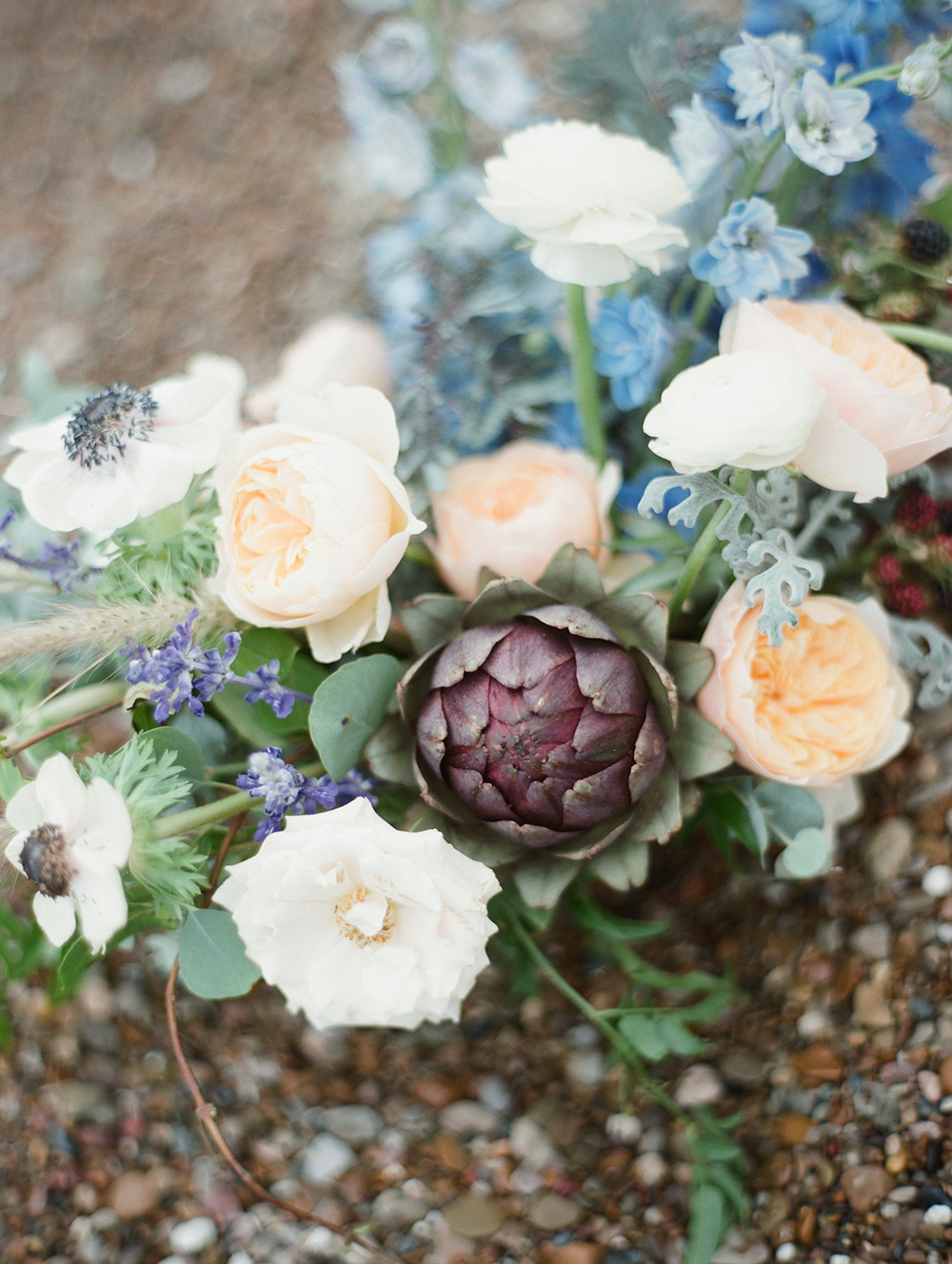 unique wedding flowers in peach, white and blue.jpg