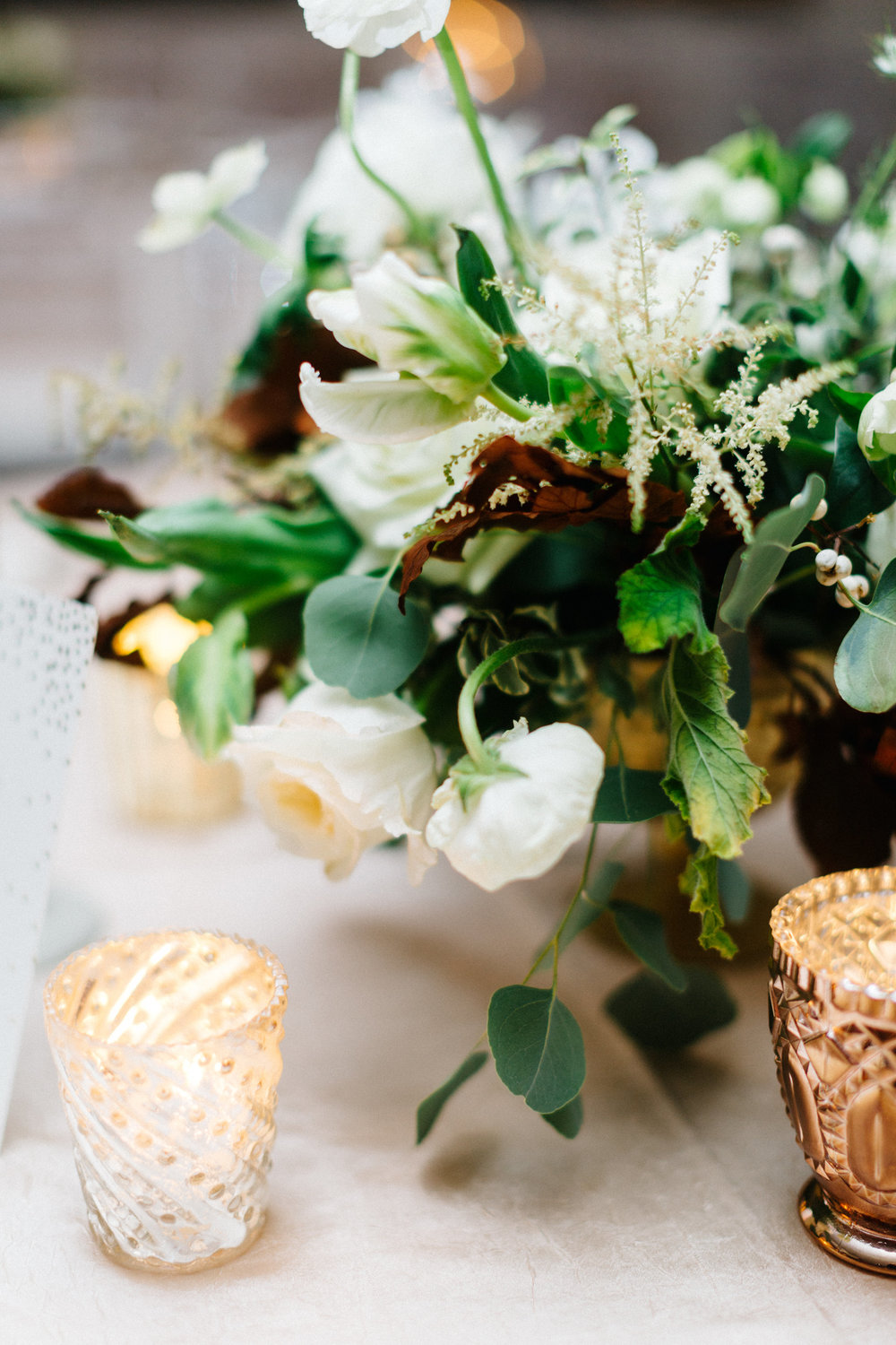 metallic inspired floral wedding centerpiece.JPG