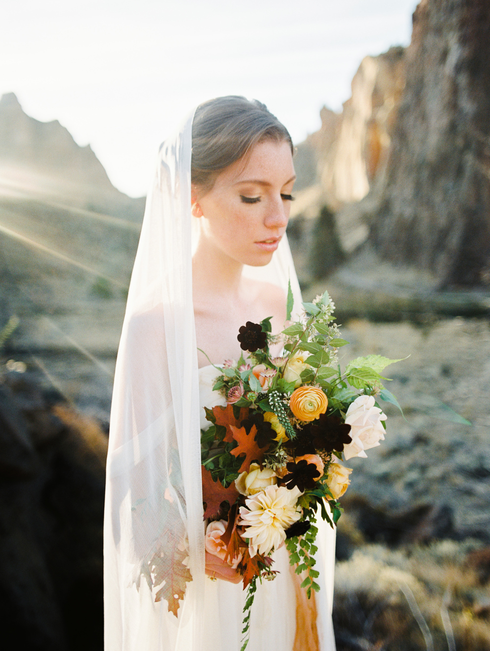 peach, burgundy and yellow bridal bouquet.jpg