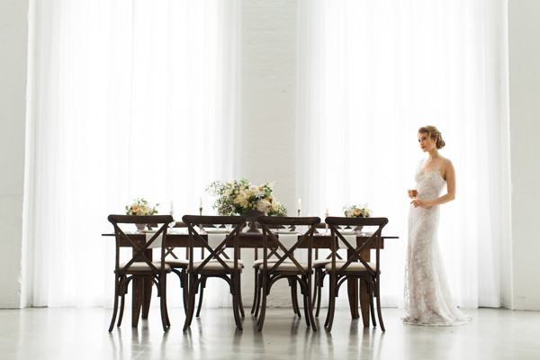 wedding table inspiration with florals by Foraged Floral in Portland, Oregon