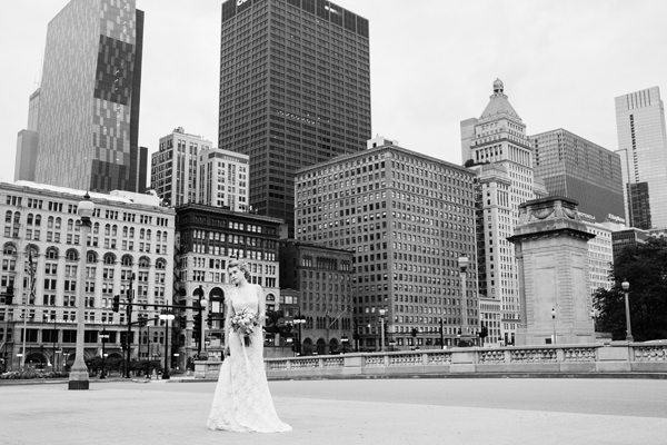 city of chicago bridal portrait ideas