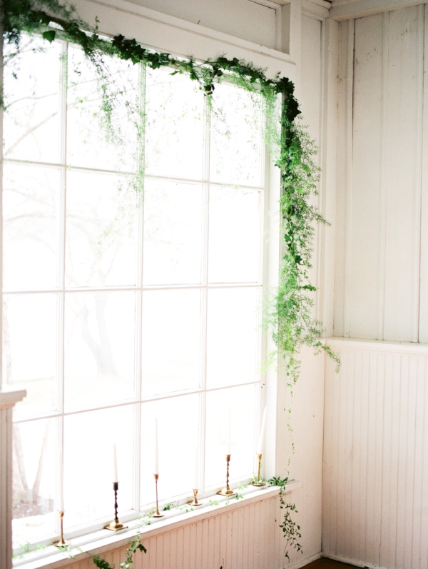 greenery installation for wedding by Foraged Floral in Portland, OR