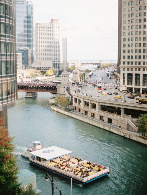 View of chicago river from Trump Towers