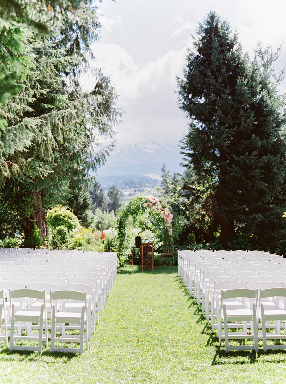 mt hood organic farms wedding ceremony flowers in pink and peach.jpg
