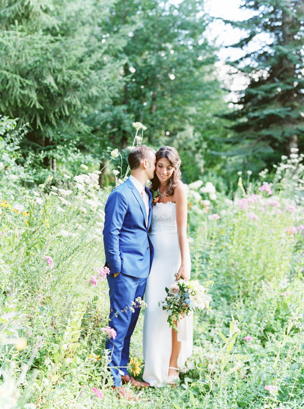 oregon bride and groom at summer wedding at mt hood organic farms.jpg