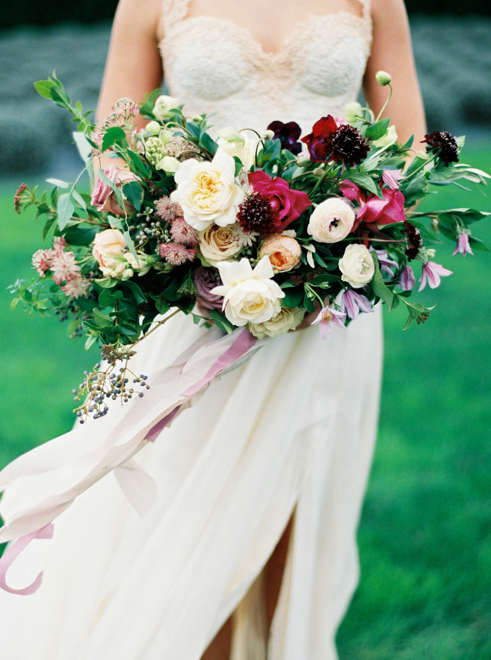 bridal bouquet at woodenville lavender with purple flowers.JPG