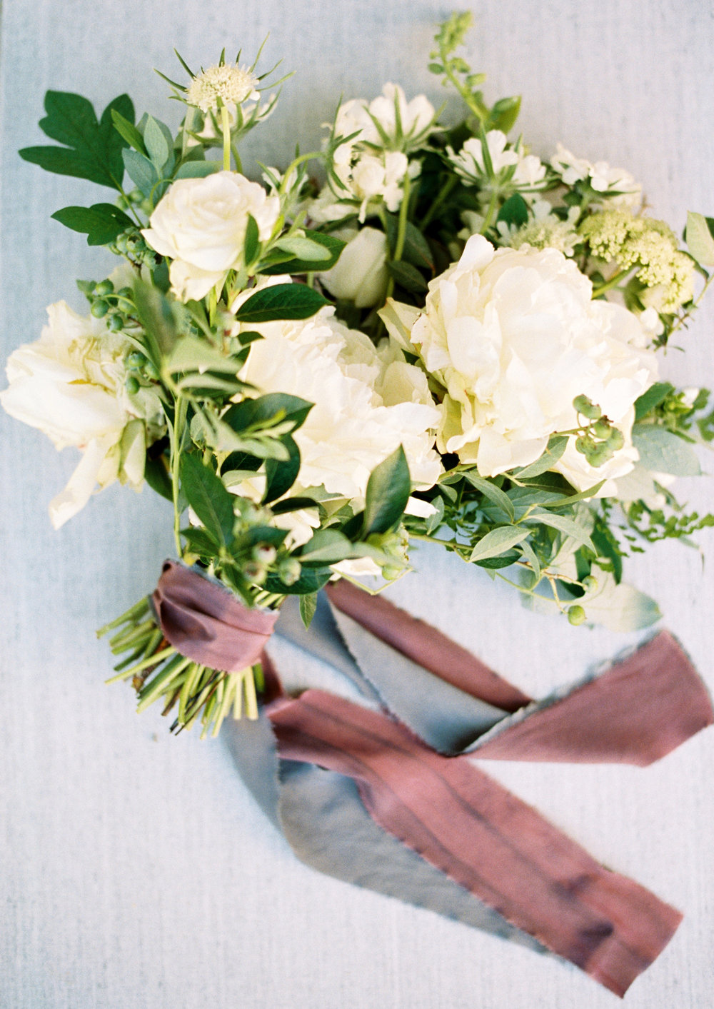 white and green wedding bouquet with silk ribbons.jpg