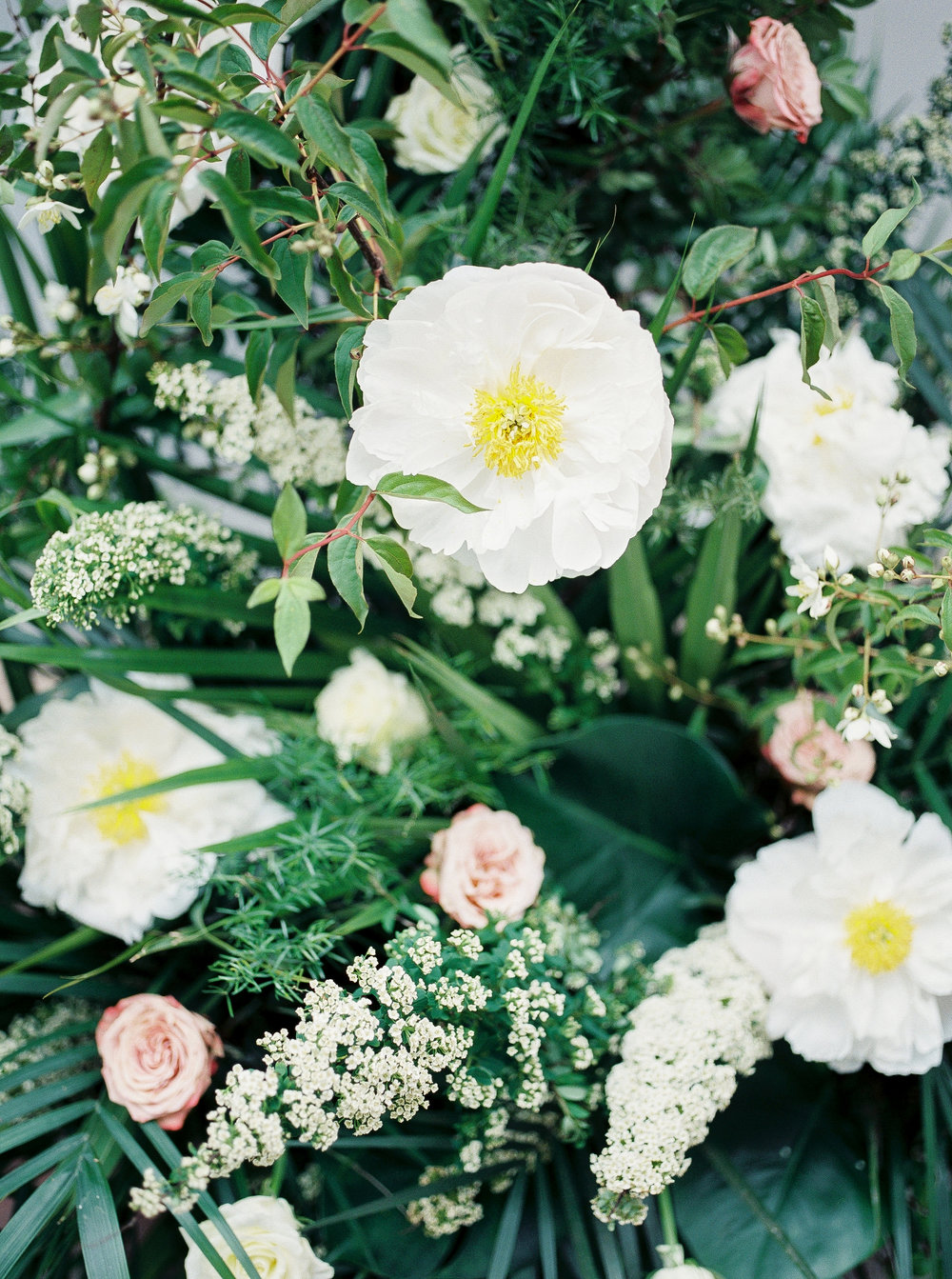 english garden inspired wedding flowers with white peonies and roses.jpg