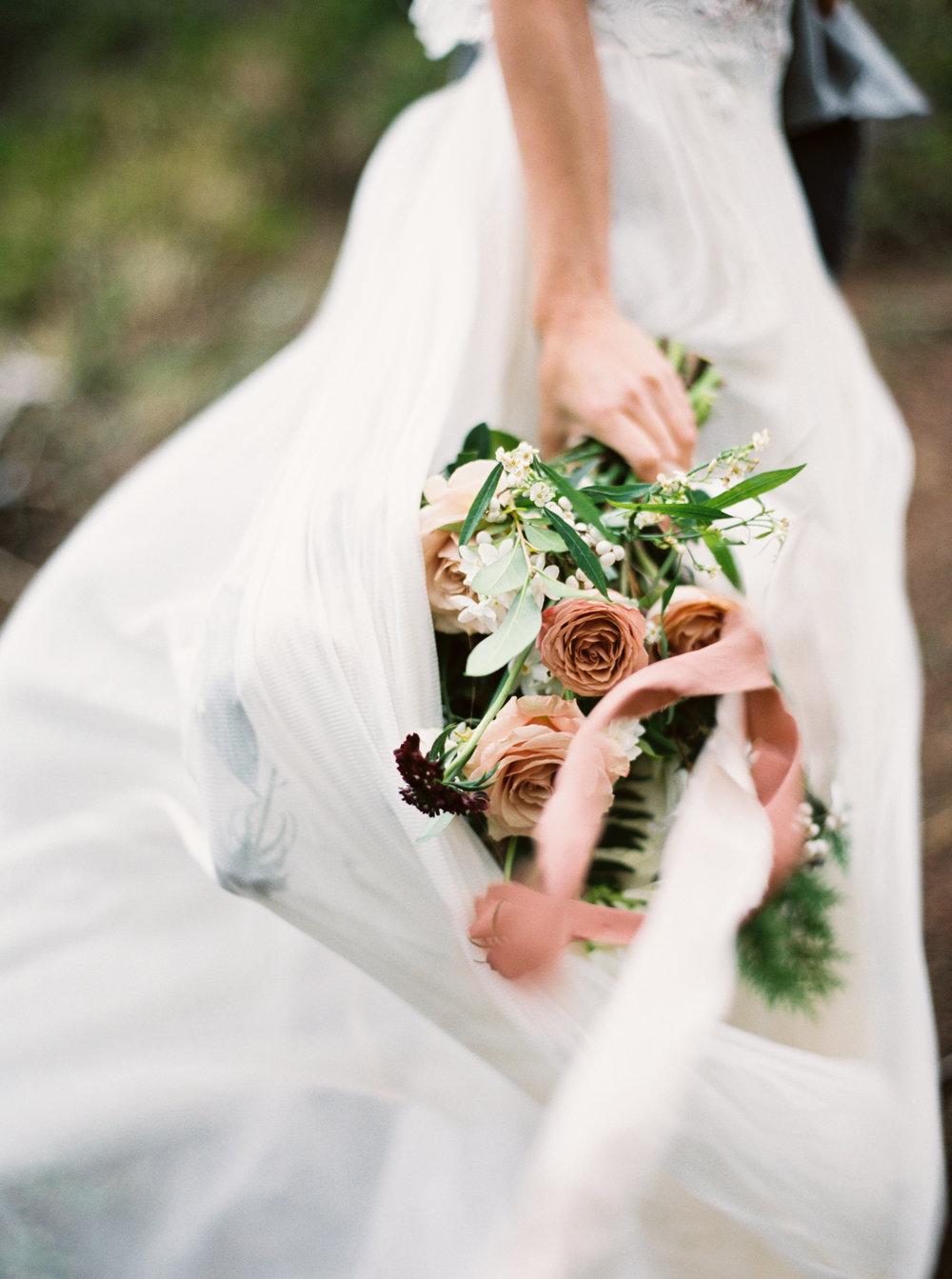 mauve and burgundy wedding bouquet for beach wedding on film.jpg