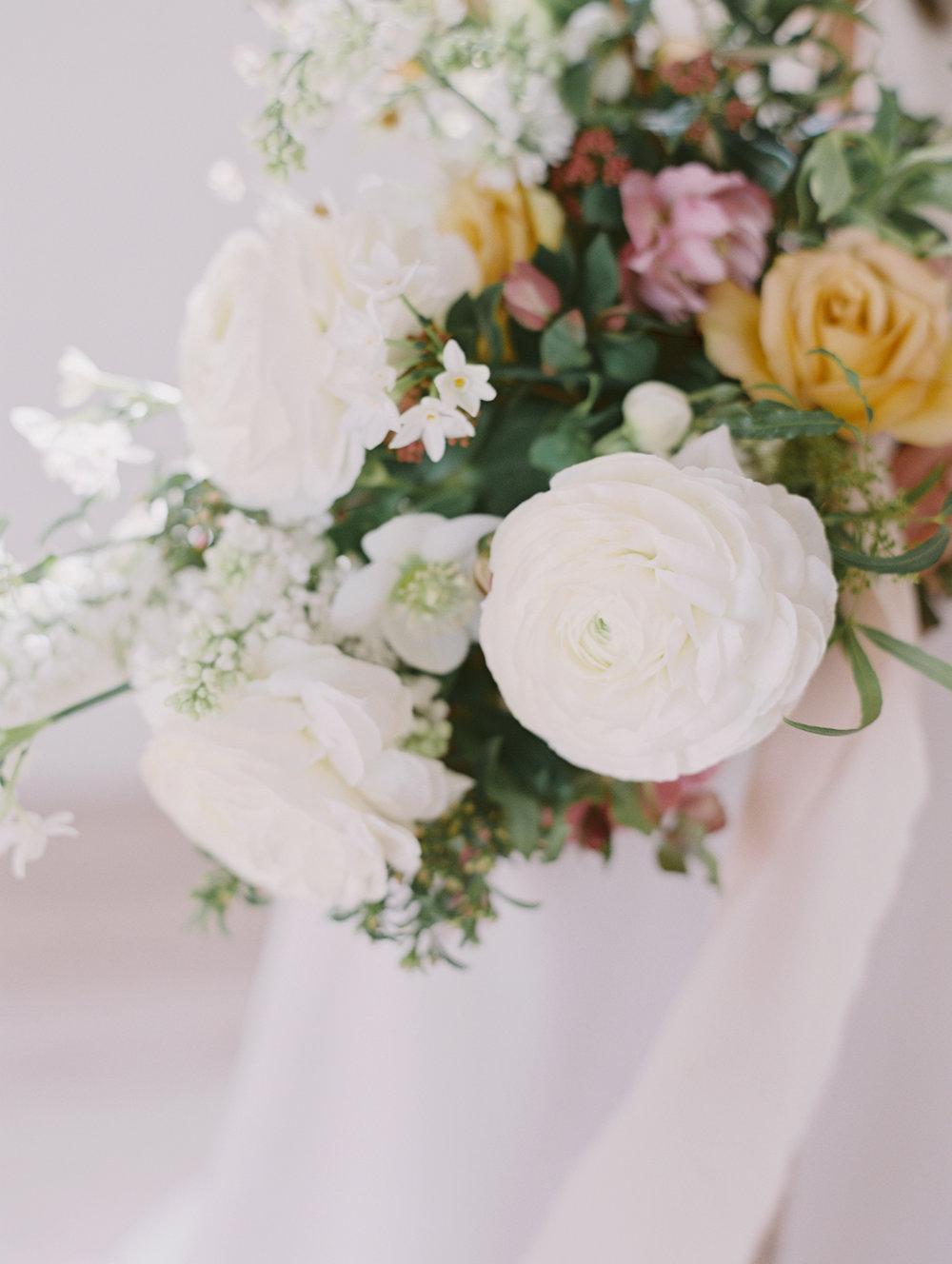 japanese ranunculus wedding bouquet with hellebores.jpg