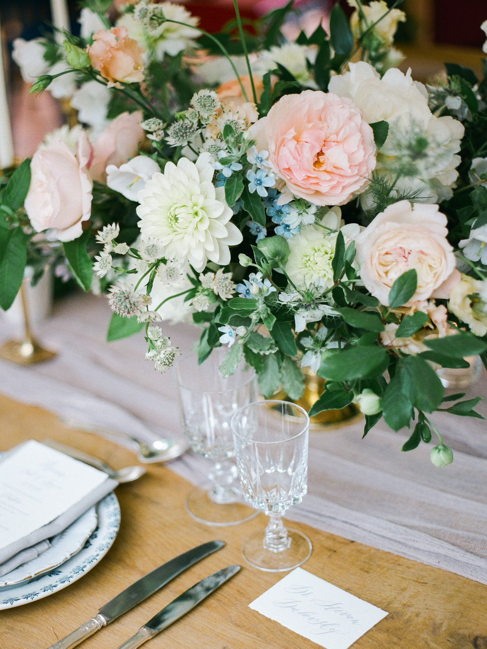 fine art wedding florist, foraged floral, pink, peach and white flowers at wedding in paris.jpg