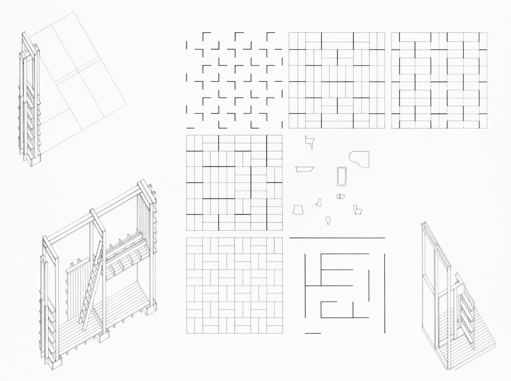 UPenn Integrated Design Thesis: Pen and Ink Configuration Study 1. 1992