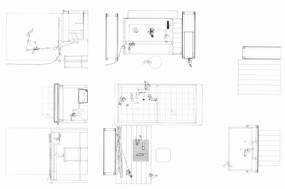 UPenn Integrated Design Thesis: Pen and Ink Work Process Study 1. 1992