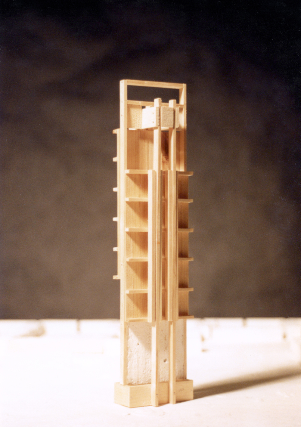 UPenn Integrated Design Thesis: Wood and Plaster Experiment 1. 1992