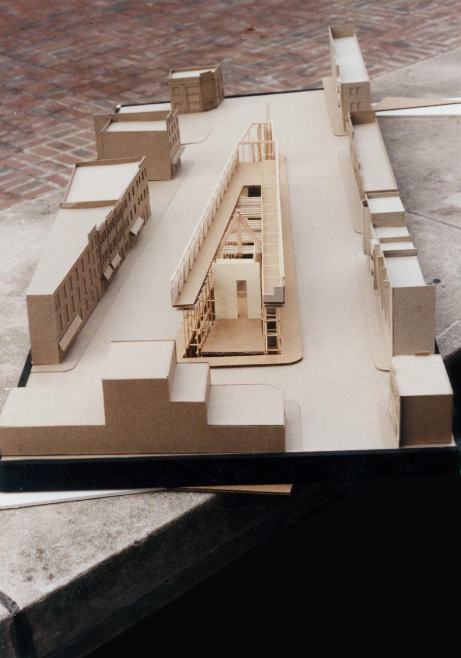 UPenn 3D Study Model: Cardboard and Balsa. 1990