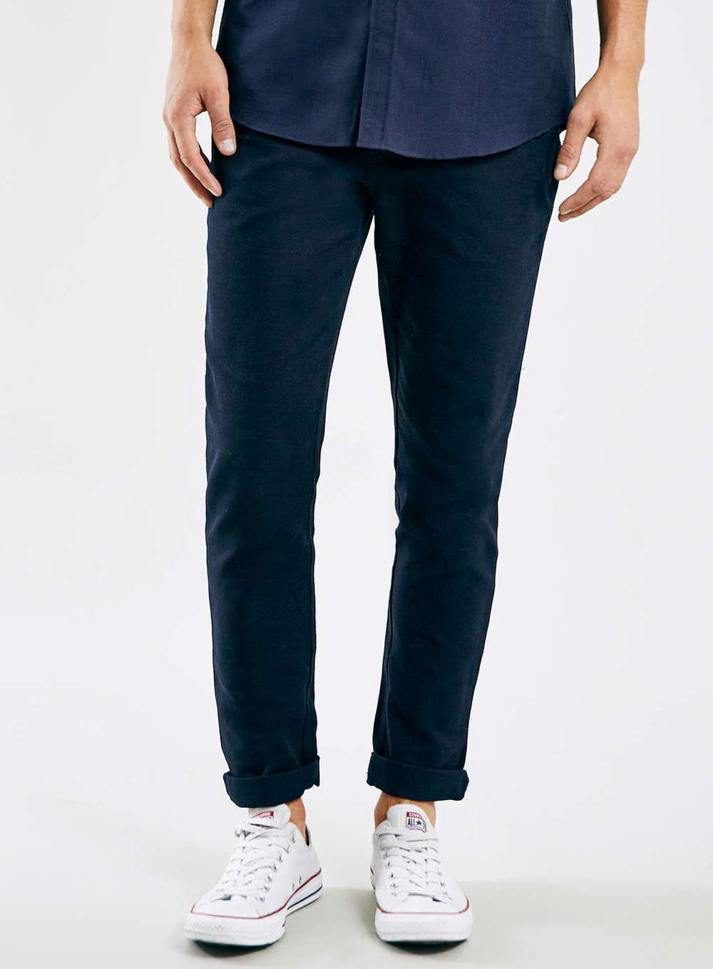 Cuffed Chinos without Socks Creates the Perfect Summer Look