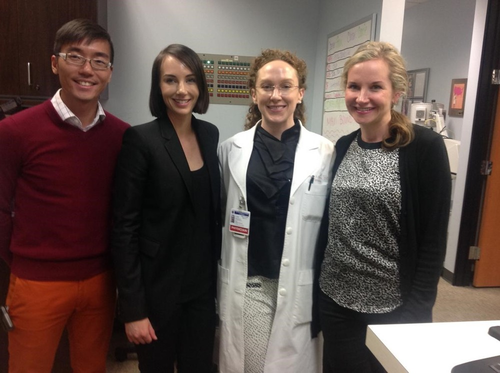 Melissa and Kristin with the research team at Cosmetic Laser Dermatology