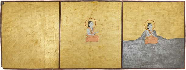 Three Aspects of the Absolute  from the  Nath Charit,  India, Rajasthan, Jodhpur, 1823