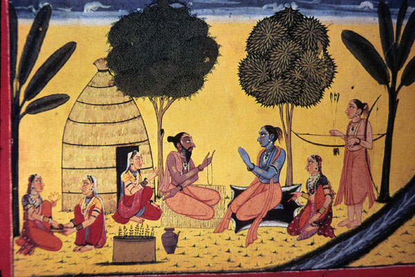 The warrior princes Rāma and Lakṣmaṇa enter the forest as ascetics and learn secret mystical practices including magical mantras from the ancient sages in the epic story the   Rāmāyaṇa  .