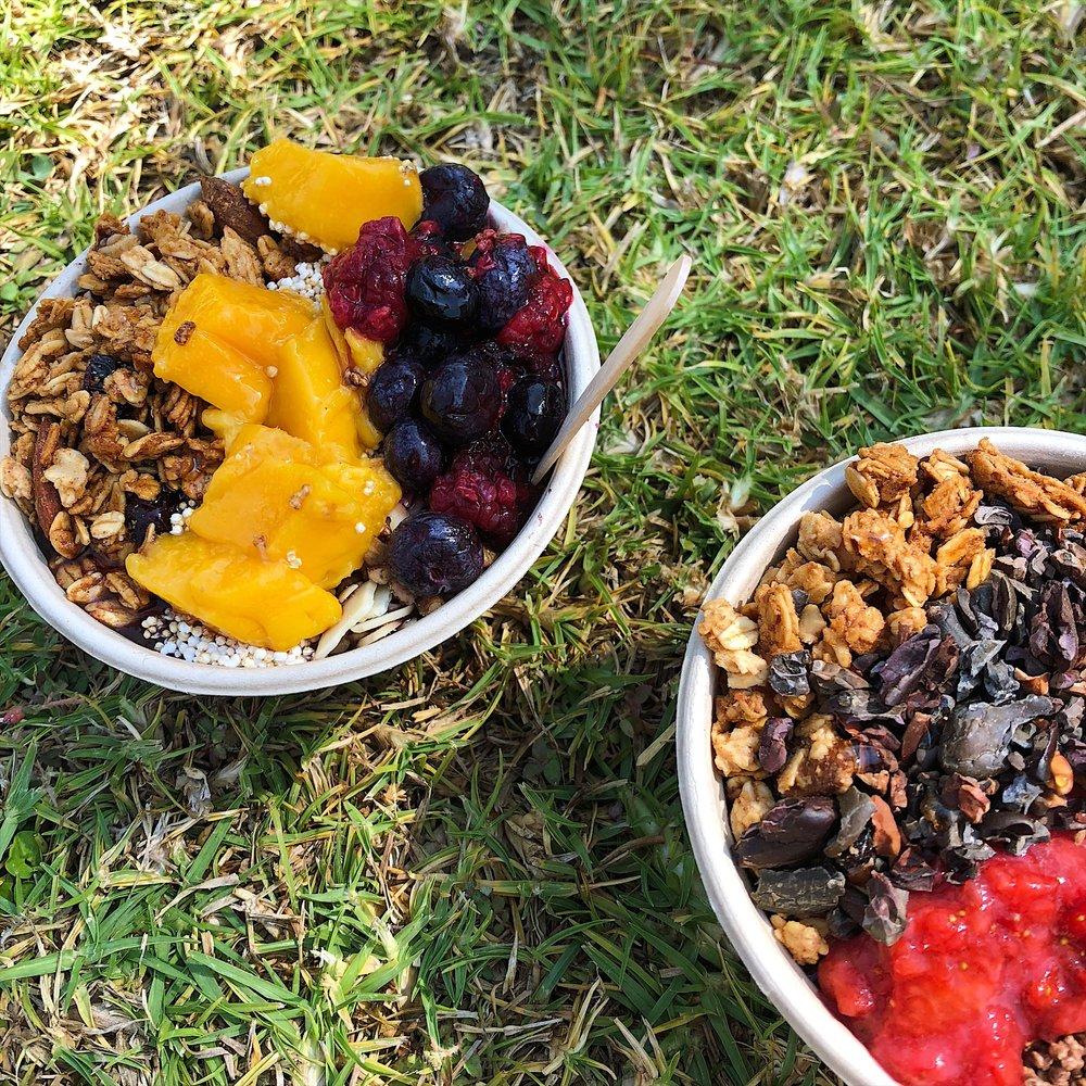 Organic acai bowls by   Vero Amore   at Wanderlust Festival