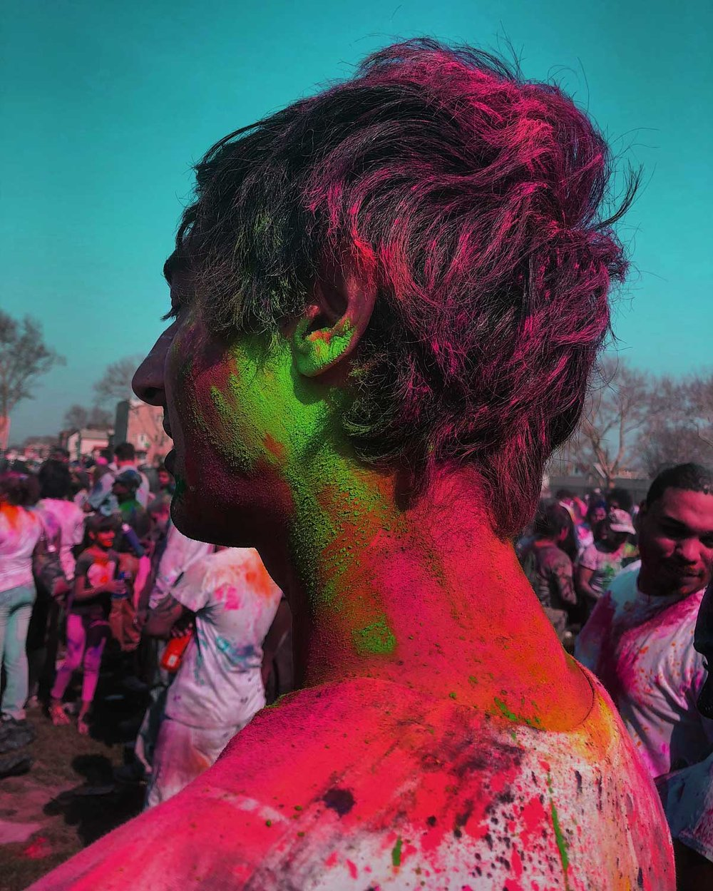 Trevor, blessed in the Colors of Holi.