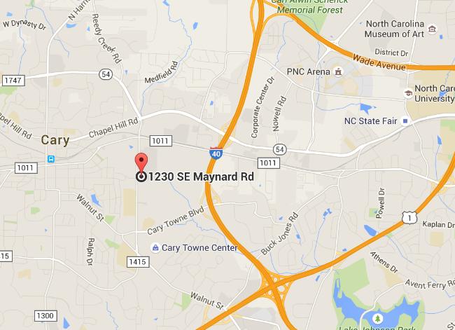 1230 SE Maynard Rd | Suite 102 Cary, North Carolina