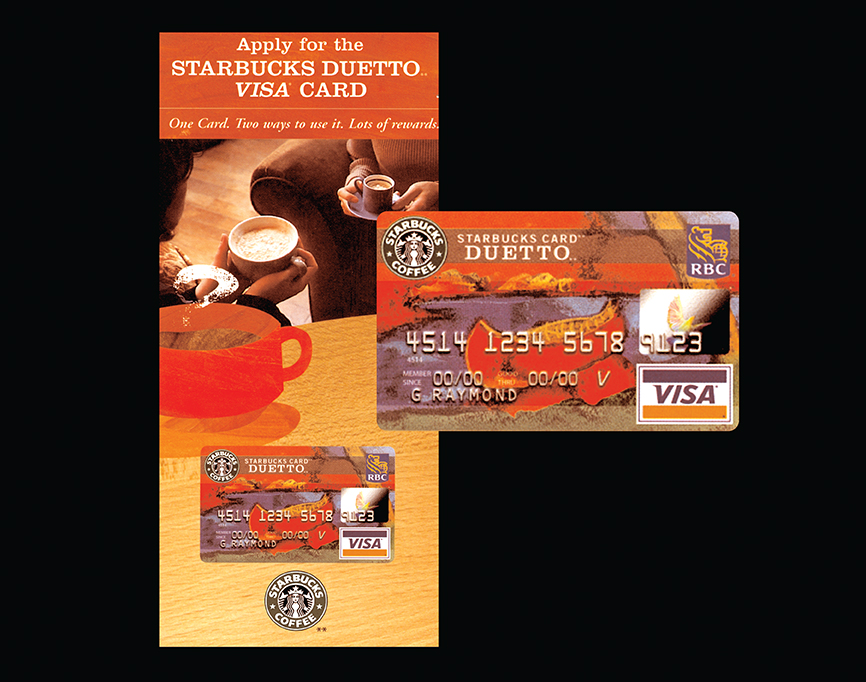 Starbucks and VISA DUETTO CARD