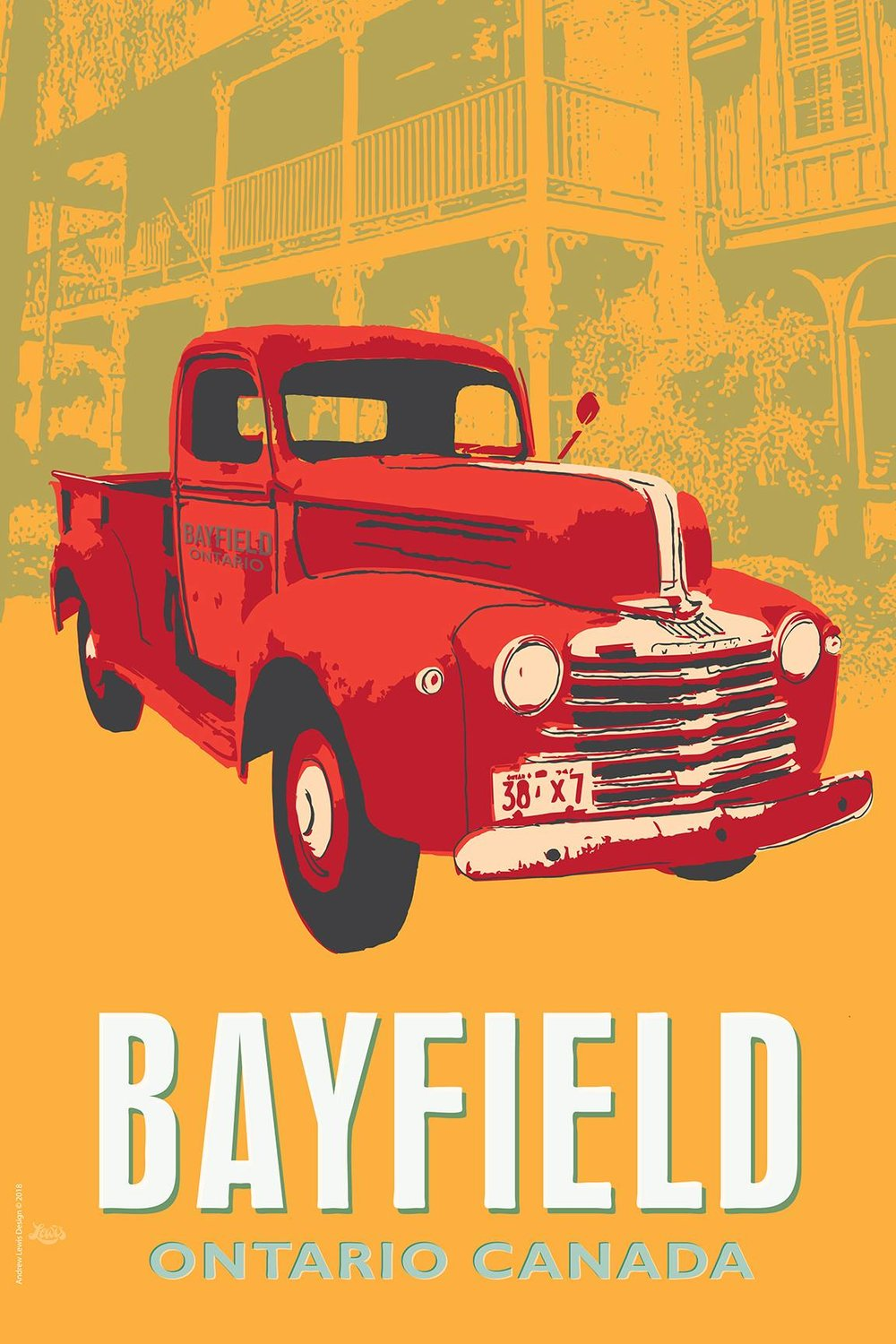 Truck Poster: Bayfield, Ontario, Canada