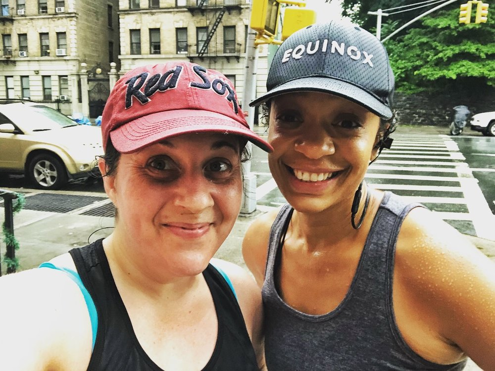 The first morning of getting out and boots on the ground! On Thursday mornings you'll find Heather + me running through Harlem.