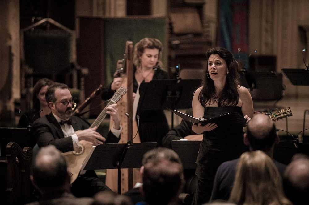 Nell Snaidas, Paula Fagerberg, and Daniel Zuluaga in An Empire of Silver and Gold: Music from 18th Century Latin America
