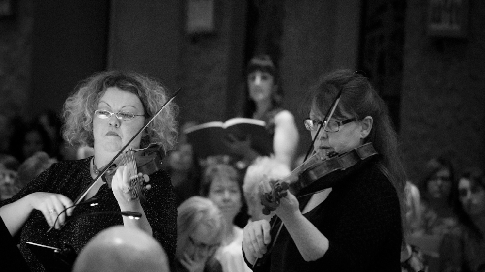 Susan Feldman and Janet Strauss, violinists