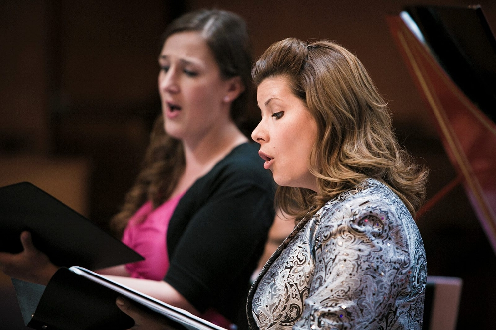 Angela Young Smucker, alto and Anne-Marie Dicce, soprano