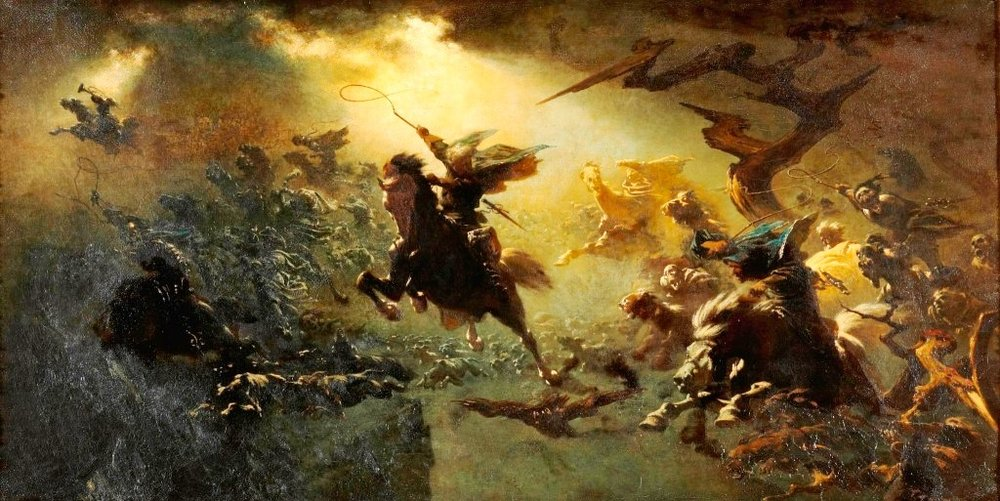 """Wilde Jagd"" (""The Wild Hunt"") by Johann Wilhelm Cordes - 1856"