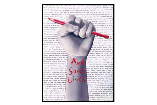 Art Saves Lives Print $8.00