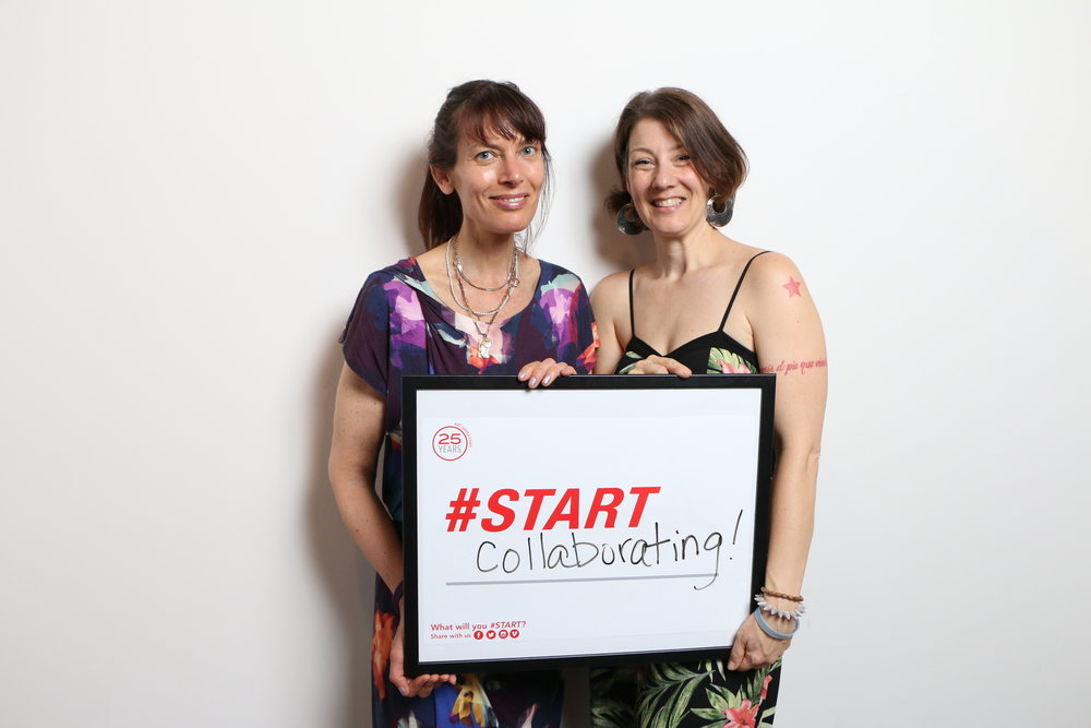 Art Start's Co-Executive Director,  Johanna De Los Santos and Goodie Girl founder, Shira Berk at Art Starts 25th Anniversary Celebration, 2017.