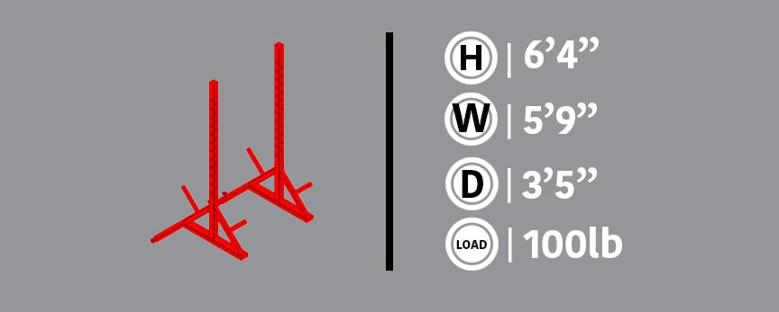 Adjustable SquatRack Gray Info Box