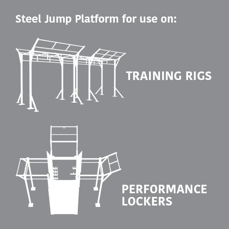 Steel Jump Platform for use on: Training Rigs & Performance Lockers
