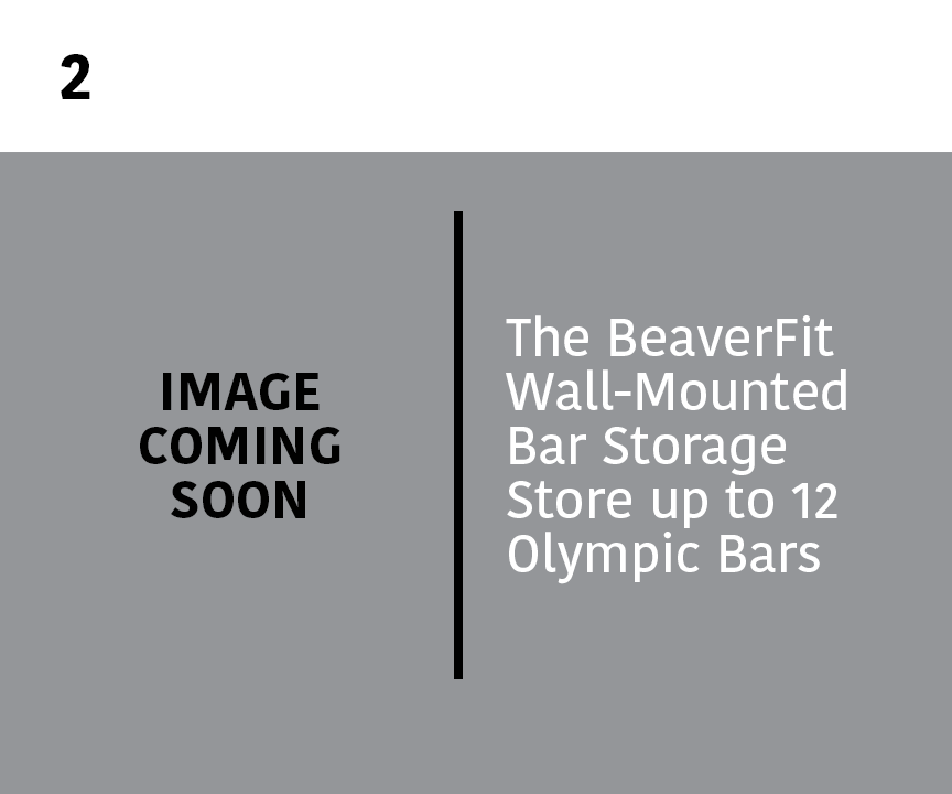 2. Wall-Mounted Bar Store: The BeaverFit Wall-Mounted Bar Storage Store up to 12 Olympic Bars