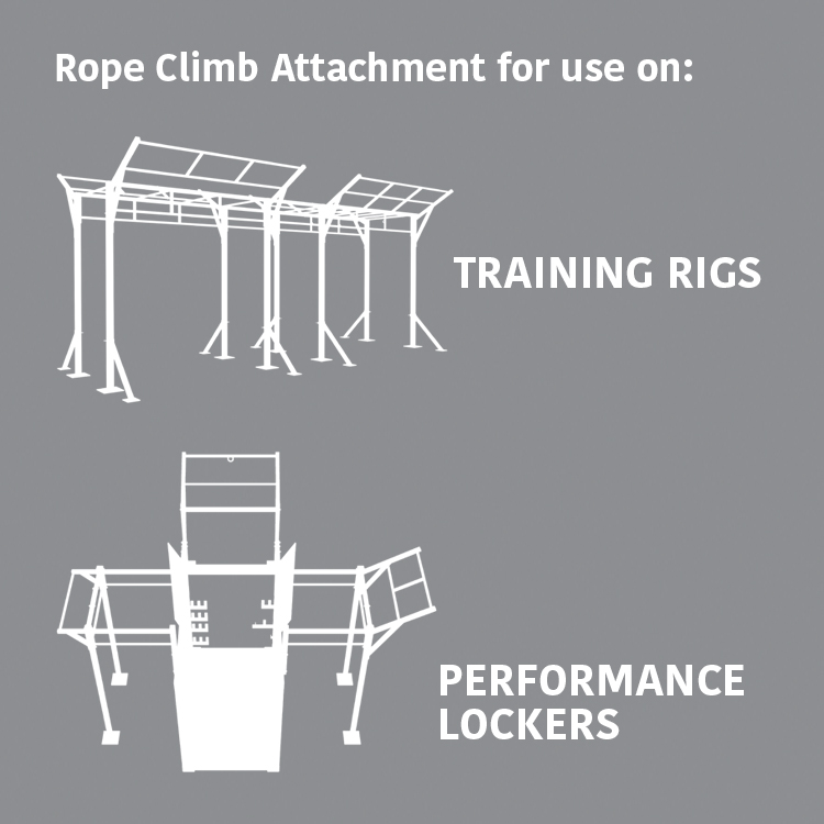 Rope Climb Attachment for use on: Training Rigs & Performance Lockers